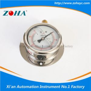 Radial Anti - Shock Oil - Filled Pressure Gauge with Flange pictures & photos