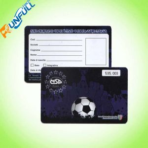 Standard Size Card in Plastic Material for Supermart Memership Card