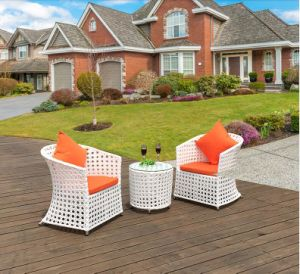 Hot Sales Factory Rattan /Wicker Table Chair Set / Outdoor Leisure Furniture Coffee Shop Table Chair Set (Z317) pictures & photos