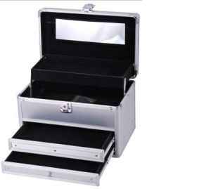 Professional Portable Makeup Vanity Cosmetic Aluminum Case pictures & photos
