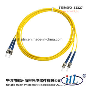 High Temperature Stability Duplex St/Sm/PC Fiber Optic Patch Cord pictures & photos