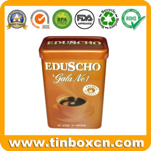 Rectangular Coffee Tin Box with Airtight Lid for Metal Food Tin Can Packaging pictures & photos