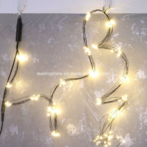 new concept eb747 2a786 Multi Stand LED String Light Black Wire Warm White Christmas Xmas Lantern  Wedding Garland Decor Curtain Decoration Lights Fairy Lamps
