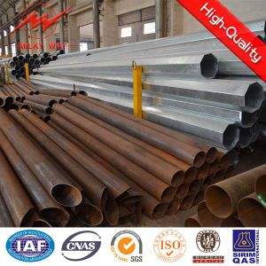 6mm Round Tapered Steel Utility Poles pictures & photos