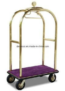 Arabesquitic Brass Tubing Hotel Bellman′s Baggage Cart (DF58) pictures & photos