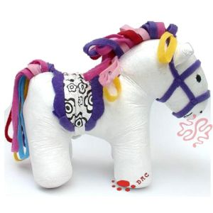 Stuffed Color White Horse Toy