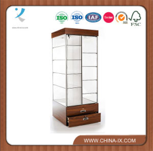 Double Sided Free Standing Display Showcase with Storage pictures & photos