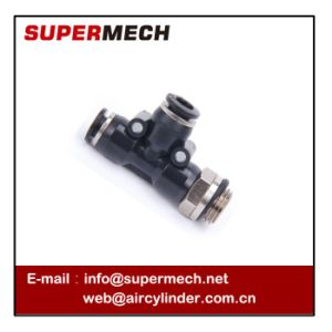 Pd-G Male Thread Branch T Pneumatic Fitting