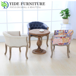 Fabric Wooden Sofa Upholstered Dining Room Chairs For Cafe