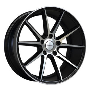 Black Painted Inner Groove Machine Face Alloy Wheel UFO-370 pictures & photos
