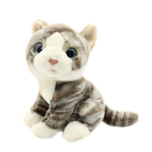 Lifelike Stuffed Animals Toy Soft Cat Plush Toy for Sale