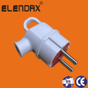European Style 2 Pin Jack Power Plug with Earth (P8055) pictures & photos