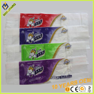 OEM Cmyk Print LDPE Patch Handle Poly Tissue Packaging Bag