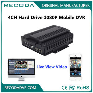 4channel Hard Drive 1080P Metal Case Mobile DVR with 4G GPS WiFi G-Sensor