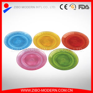 Wholesale Cheap Colorful Glass Fruit Plate pictures & photos