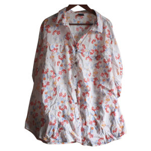 100% Cotton Printed Lady′s Blouse