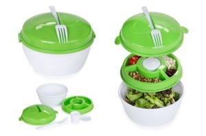 Plastic Salad Cup with Fork pictures & photos