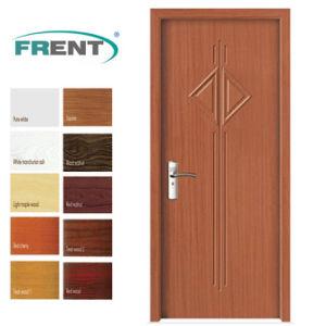 China Pvc Bathroom Wooden Door Designs With Coating Doors