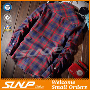 Men′ S Fashion Plaid Checked Flannel Shirt Clothing