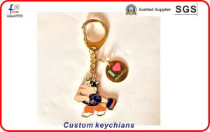 Gold Plated Hard Enamel Keychains