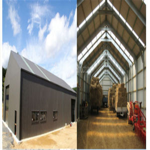Metal Prefabricated Steel Movable Pole Barn Kits Buildings for Sale pictures & photos