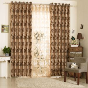Simple Style Yarn Dyed Jacquard Fabric Curtain (MX-175) pictures & photos