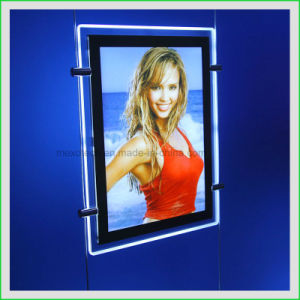 Double Side Acrylic Slim LED Photo Frame Light Box (CDH03-A4P) pictures & photos