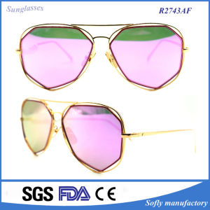 Womens′ Eyeglasses Vintage Reflective Metal Sunglasses pictures & photos