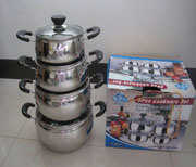 Stainless Steel Cooking Pot Cassreole Sp4-100 pictures & photos