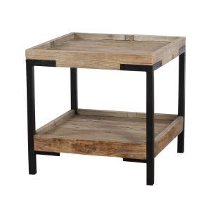 Style Retro Metal Base Frame Side Table