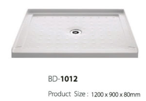 Center Drain Three Flanges acrylic Shower Base (BD-1012) pictures & photos