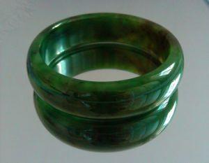 China Natural Hetian Jasper Jade Bracelet Chinese Bangle 29