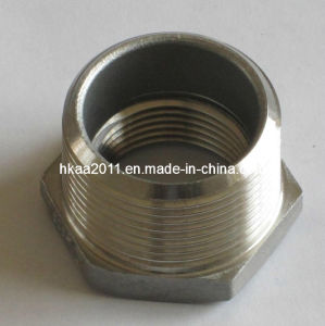 CNC Machining Stainless Steel Threaded Hex Bushing pictures & photos