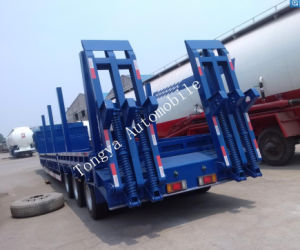 Factory Direct 3 Axle Lowbed Semi Trailer pictures & photos