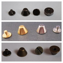 Brass Silver Bucket Mushroom Cone Punk Spike Screw Back Studs/Rivets Goth pictures & photos