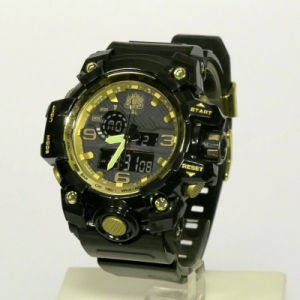 2021 Popular Plastic Case Sporty Digit-Analogue Watch, 3ATM Water-Resistant