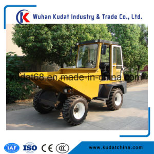 3tons 4WD Diesel Mini Concrete Dumper with Cabin (SD30) pictures & photos