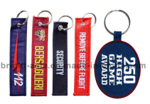 Wholesale Fabric Cloth Embroidery Keychain (BYH-101085) pictures & photos
