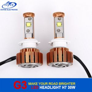 V16 Turbo Fan LED Headlamp 30W 3000lm H7 CREE Car Auto LED Headlight 6000k pictures & photos