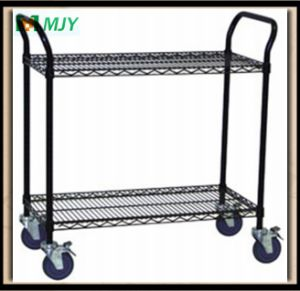 Black Wire Shelf with Wheels pictures & photos