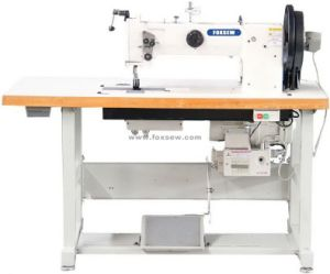 Double Needle Triple Feed Walking Foot Heavy Duty Sewing Machine for Leather Upholstery and Webbings pictures & photos