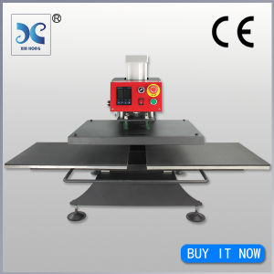 CE Approved Automatic Pneumatic Heat Press Machine Double Stations (FJXHB3) pictures & photos