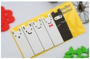 Creative Printed Memo Pad, Coated Paper Cover Sticker Notes