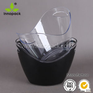Large Round Transparent Plastic Acrylic Wine Ice Bucket Wholesale pictures & photos