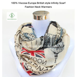 100% Viscose Europe British Style Infinity Scarf Fashion Neck Warmers pictures & photos
