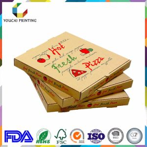 Recyclable Food Grade Kraft Paper Pizza Box