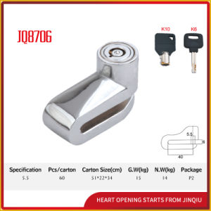 Jq8706 Reasonable Price Durable Disk Bicycle Lock Motorcycle Lock with Keys pictures & photos