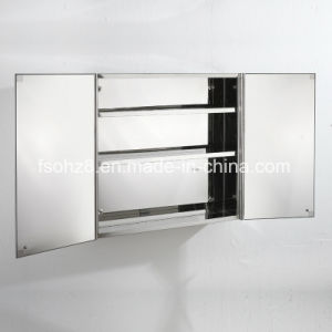 Staniless Steel furniture Bathroom Mirror Cabinet (7007) pictures & photos