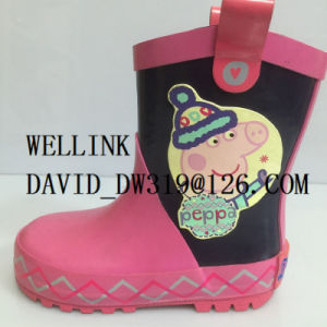 Peppa Pig Cartoon Child Rubber Rainboots