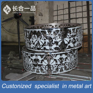 Factory Manufacture Art Special Design Round Stainless Steel Table Furniture pictures & photos